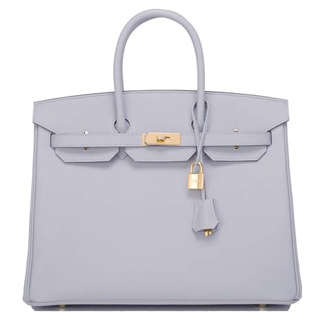 Accessories De Mademoiselle The Inspired By Hermes Birkin Bag by Hermes Birkin Bag 35cm Blue Glacier Epsom Gold Hardware