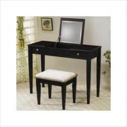 Makeup Vanity Table Black Coaster Wood Two Drawer Makeup Vanity Table Set With