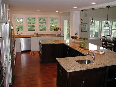 u shaped kitchen with island kitchen island designs layouts great lakes granite