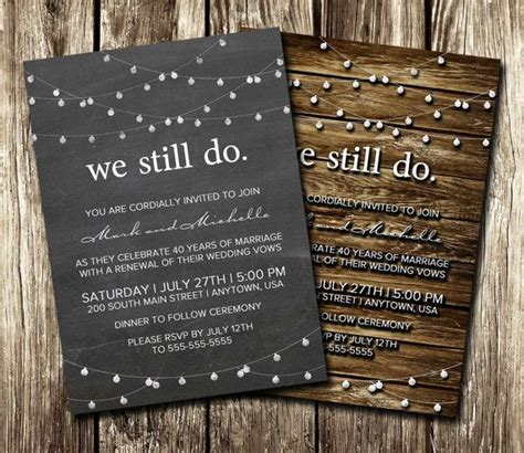 17 Best ideas about Anniversary Invitations on Pinterest
