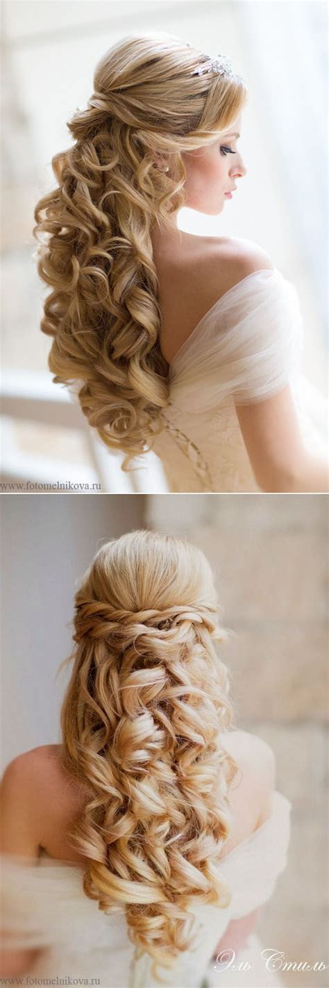 20 awesome half up half wedding hairstyle ideas elegantweddinginvites
