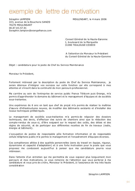 Lettre De Motivation Ecole Technique Exemple De Lettre De Motivation Promotion Interne 2016