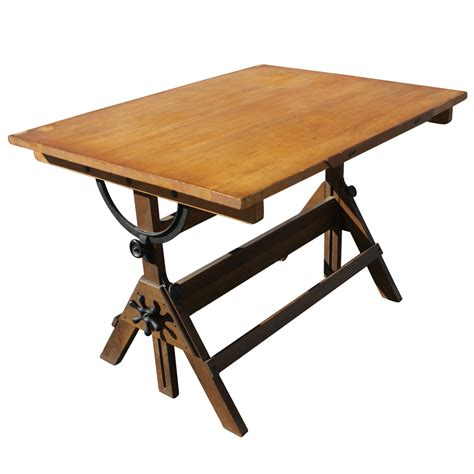 Drafting Table Furniture Vintage Drafting Light Table Desk Wood Glass Ebay