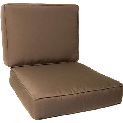 Replacement Patio Chair Cushions Ultimatepatio Large Replacement Outdoor Club Chair Cushion Set With Piping Canvas Cocoa