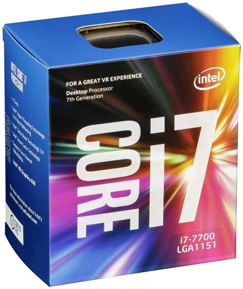 Cpu Info by Intel Core I7 7700 Quot Kaby Lake Quot Box Processors Cpus