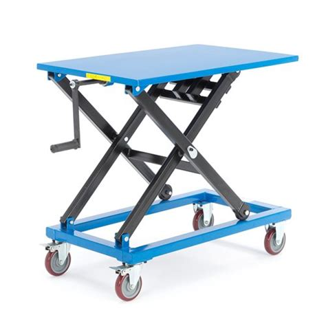 manual lift table with handle aj products