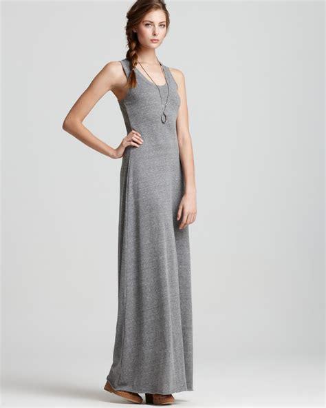 Gray Back Dress U221 lyst alternative apparel dress racerback maxi dress in gray