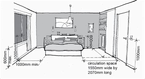 bedroom window height a diagram shows appropriate distances and heights of