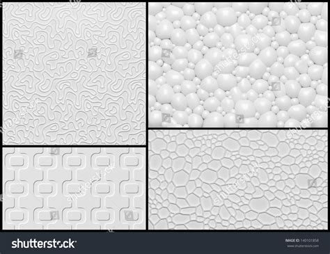 pattern of abstract writing set of 3d relief wall panel with abstract geometric