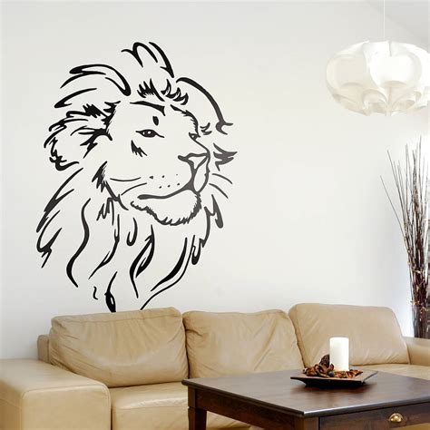 wall tattoos wall sticker wall sticker lions and walls