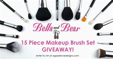 Makeup Brush Giveaway - agape love designs bella bear makeup brush set giveaway