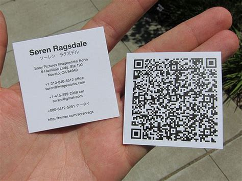 how to make qr code for business card 30 creative qr code business cards webdesigner depot