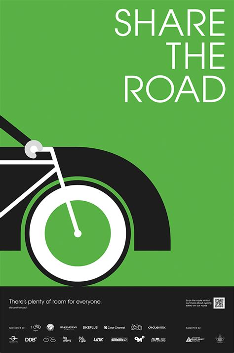 poster design road safety safe cycling caign on behance