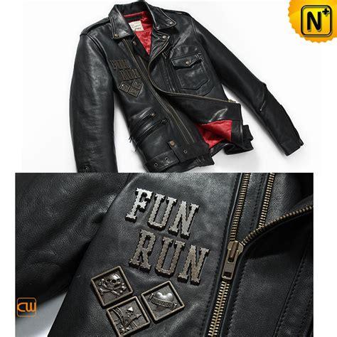 motorcycle jacket design online mens black leather biker jacket cw850214