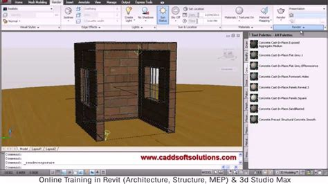 tutorial autocad rendering autocad 3d rendering tutorial autocad 2010 youtube