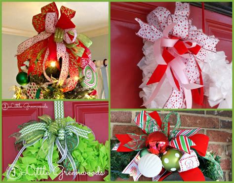 christmas decoration step by step tutrials how to make an easy bow for wreaths and door hangers