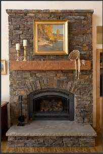 beautiful stacked fireplace surround on stacked