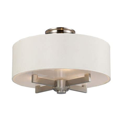 satin nickel flush mount ceiling light titan lighting seven springs 3 light satin nickel ceiling