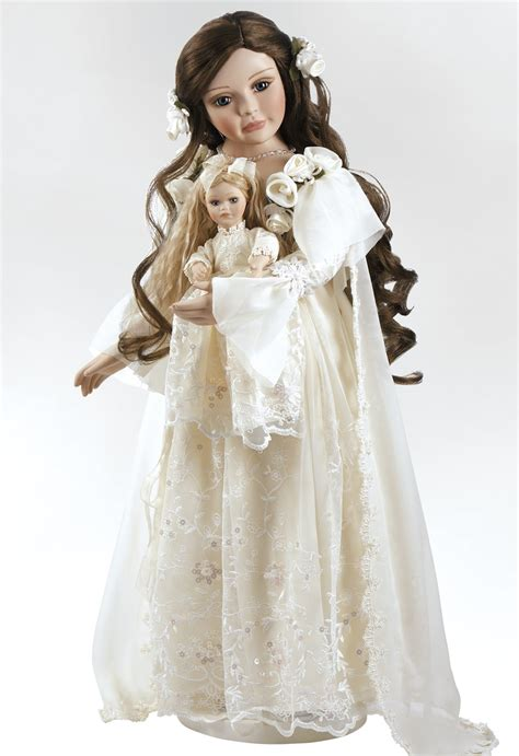 porcelain 5 dolls porcelain doll annabella heirloom doll 25