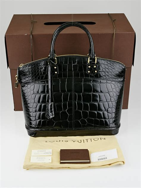 Limited Edition Louis Vuitton Crocodile Marilyn Multicolore Purse by Louis Vuitton Limited Edition Black Alligator Lockit Mm