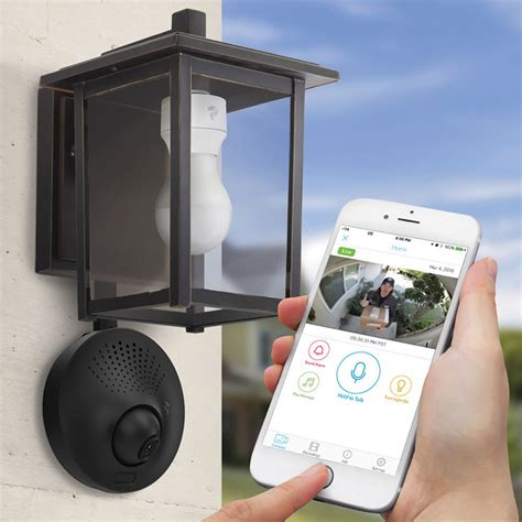 outdoor light with wifi camera light socket powered wi fi security camera the green head