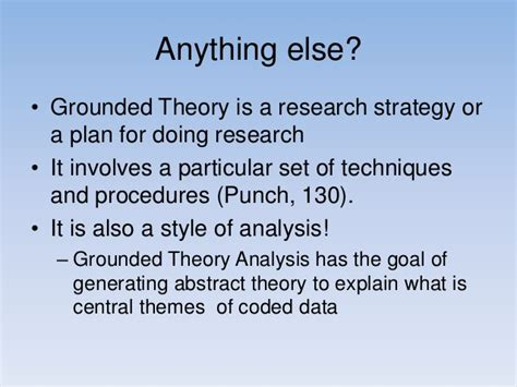 central themes in qualitative research grounded theory pp 2