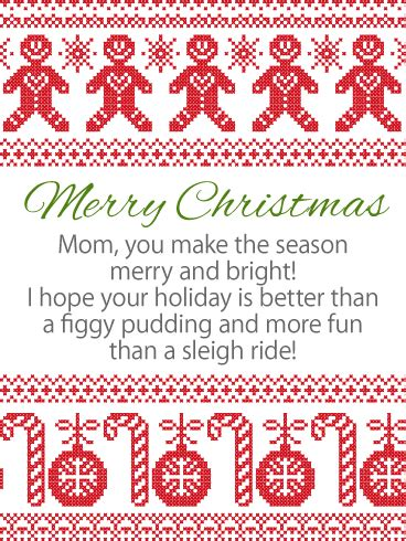 season bright merry christmas wishes card  mother birthday greeting cards  davia