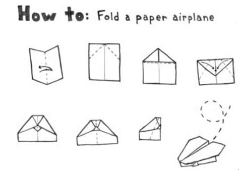 Folding A Paper Airplane - how to fold a paper airplane like a pro school ideas