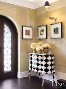 entry vignette  patterned french cabinet luxe interiors design