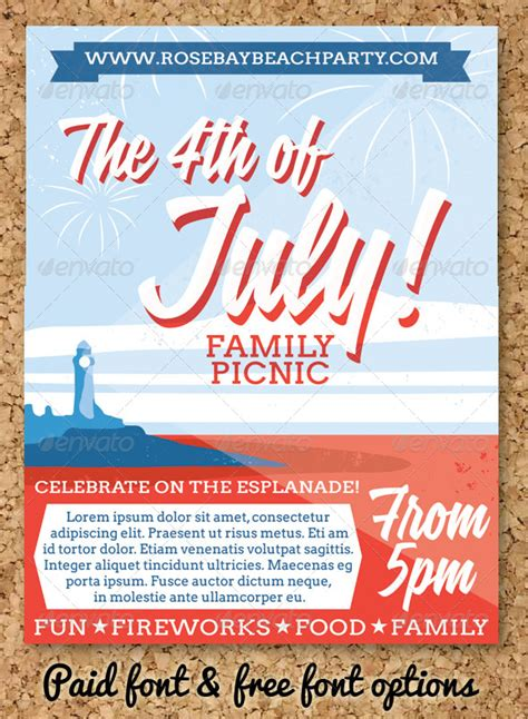 community event flyer template july 4 event flyer or invitation event flyers