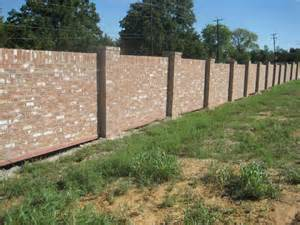 brick fence designs images