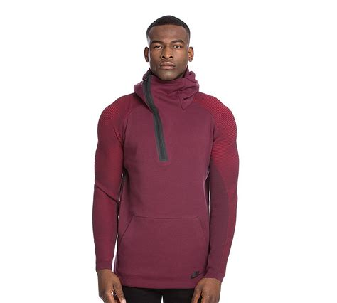 Cotton Lab Essential Hoodie Zipper 2 Tone Maroon 1 nike tech fleece pleat half zip hooded top maroon footasylum