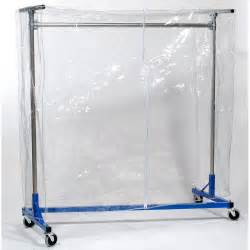 vinyl cover w zipper for 4ft garment rack 60 quot high clear