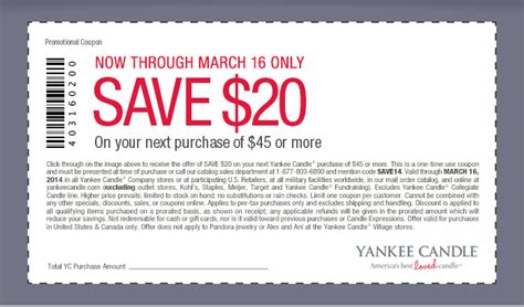 yankee candle online printable coupons yankee candle coupons and codes 2015 printable 1