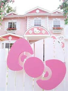 hello kitty house cute hello kitty home mansion pink image 453234 on