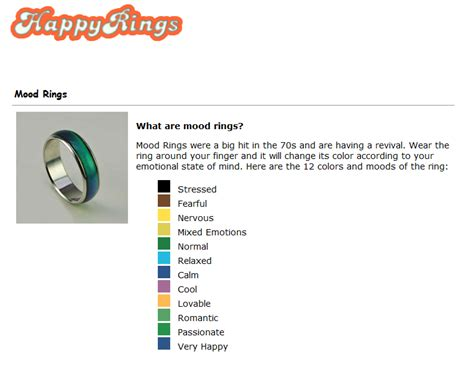 mood ring colors irving either your mood ring is