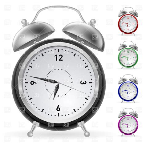 alarm clock with bells 7594 objects royalty free vector clip eps