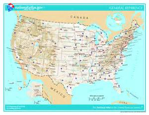 large administrative and topographical map of the usa the