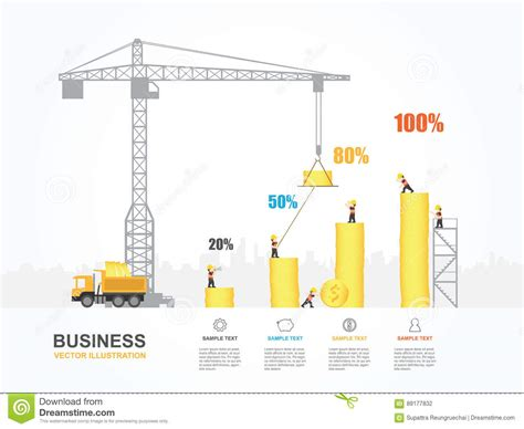 crane template crane and building money stock vector image 89177832
