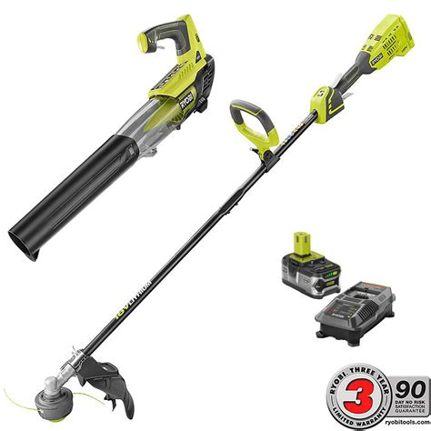 ryobi fan and battery ryobi one 18 volt lithium brushless string trimmer and