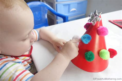 motor skills 12 months reusable pom pom tree busy bag