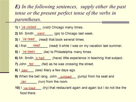 present tense sentence pattern verb tense present perfect simple ppt video online download