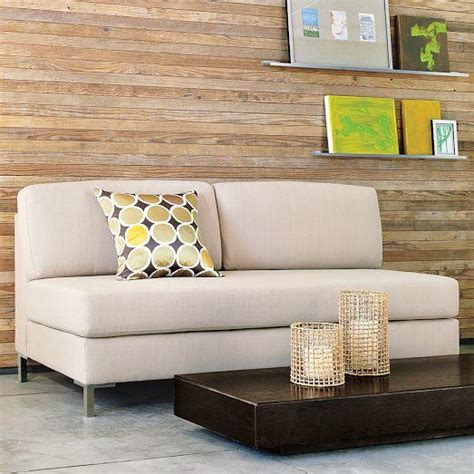 west elm armless sectional armless upholstered sofa west elm