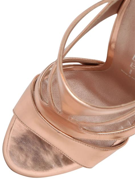 Ac 8490 Rosegold Pink Leather 1 casadei 110mm metallic leather pumps in pink gold lyst