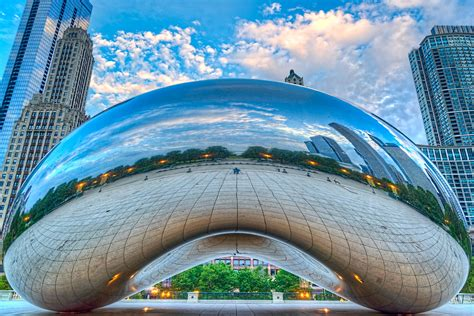 Exterior Design by Public Installation Art Cloud Gate Anish Kapoor