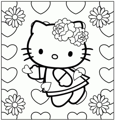 hello kitty heart coloring page love coloring part 21