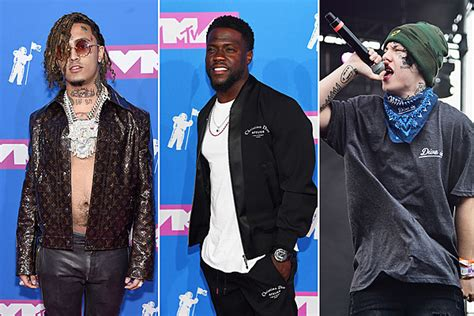 lil pump vma outfit kevin hart disses lil pump lil xan s face tattoos at mtv