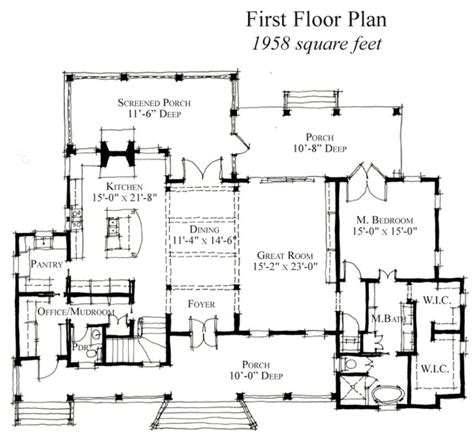 Country Historic House Plan 73864 Country House Plans With No Dining Room