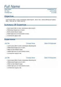 resume templates for free template resume