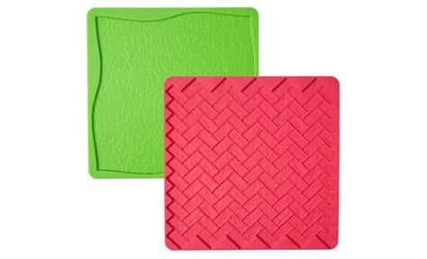 Wilton Silicone Mat by Wilton Silicone Texture Mat Grass Brick